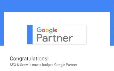 We're an Official Google Partner!